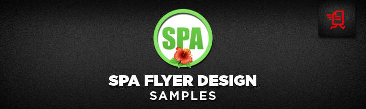 Spa Flyer Design Samples