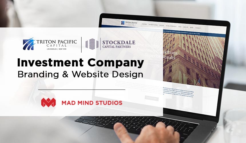 Investment Company Branding and Website Design with Mad Mind Studios