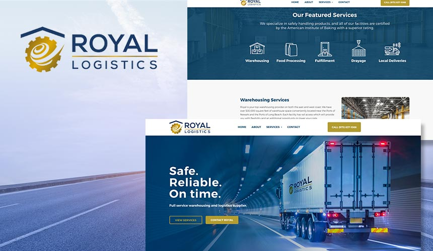 Mad Mind Studios Creates Professional Website Design for Royal Logistics