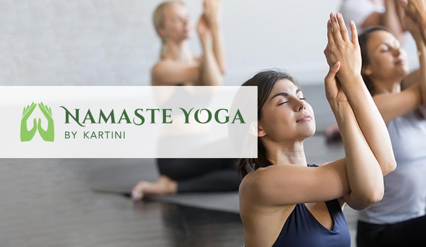 Logo, Branding, and Website Design for the Grand Opening of Namaste Yoga by Kartini